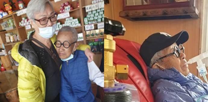 驚險!87歲脫線「患肺炎住院1個月」危及到差點插管「險去找豬哥亮」淚謝結褵65年老伴照顧